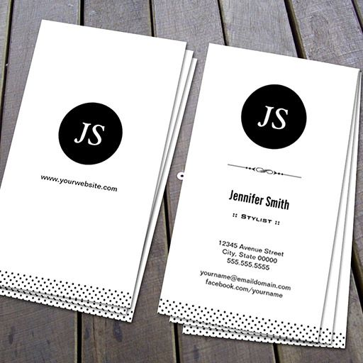 Customizable stylist clean black white business card plain customizable stylist clean black white business card reheart