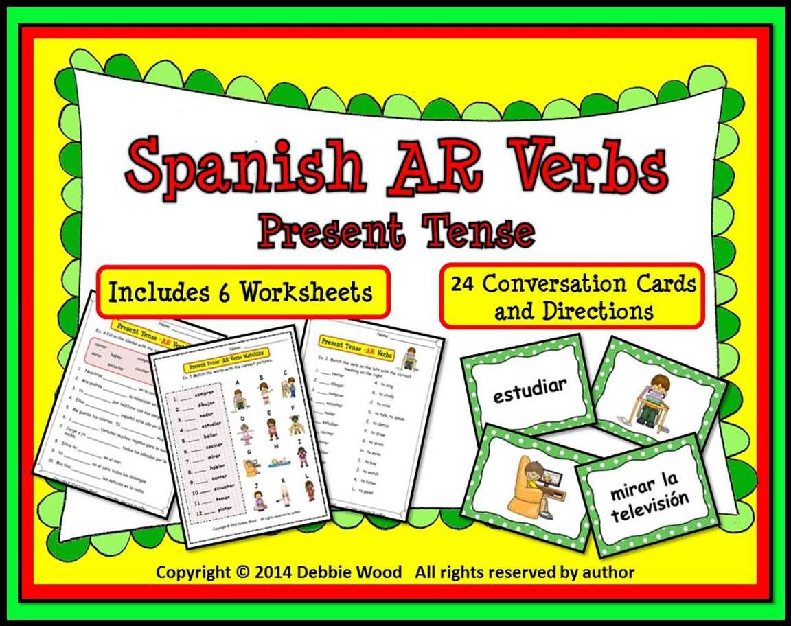 Workbooks spanish present tense practice worksheets : Spanish Present Tense (AR Verbs) | Spanish, Worksheets and ...