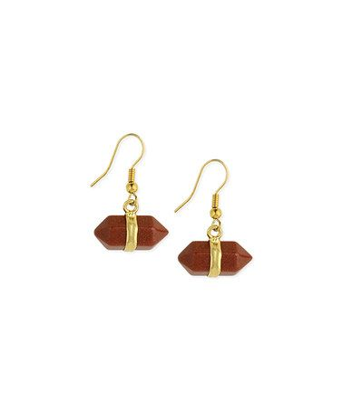 Another great find on #zulily! Pumpkin Stone Ring Drop Earrings #zulilyfinds