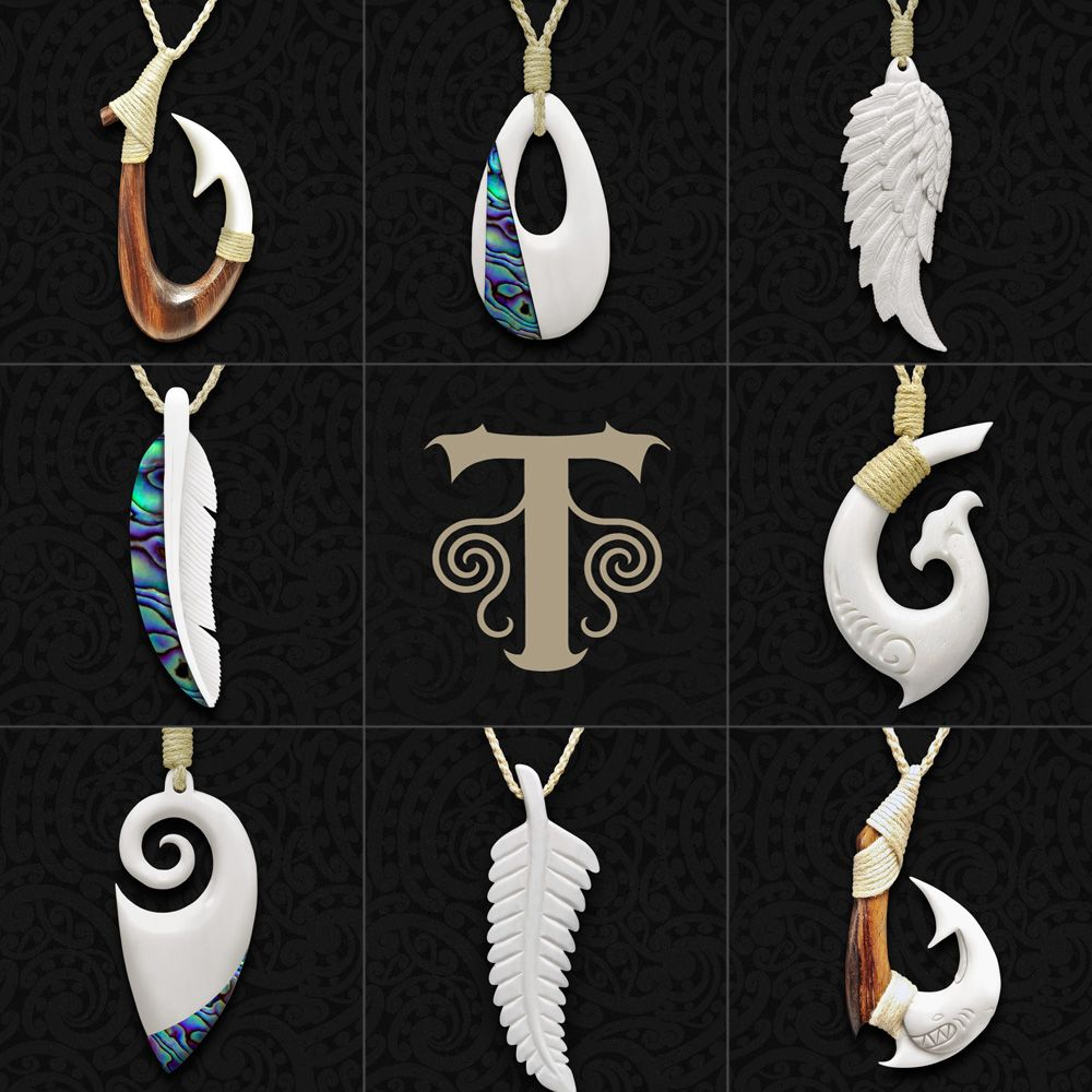 Maori Bone Carving Necklace Bone Carving Fish Hook Necklace Antler Jewelry