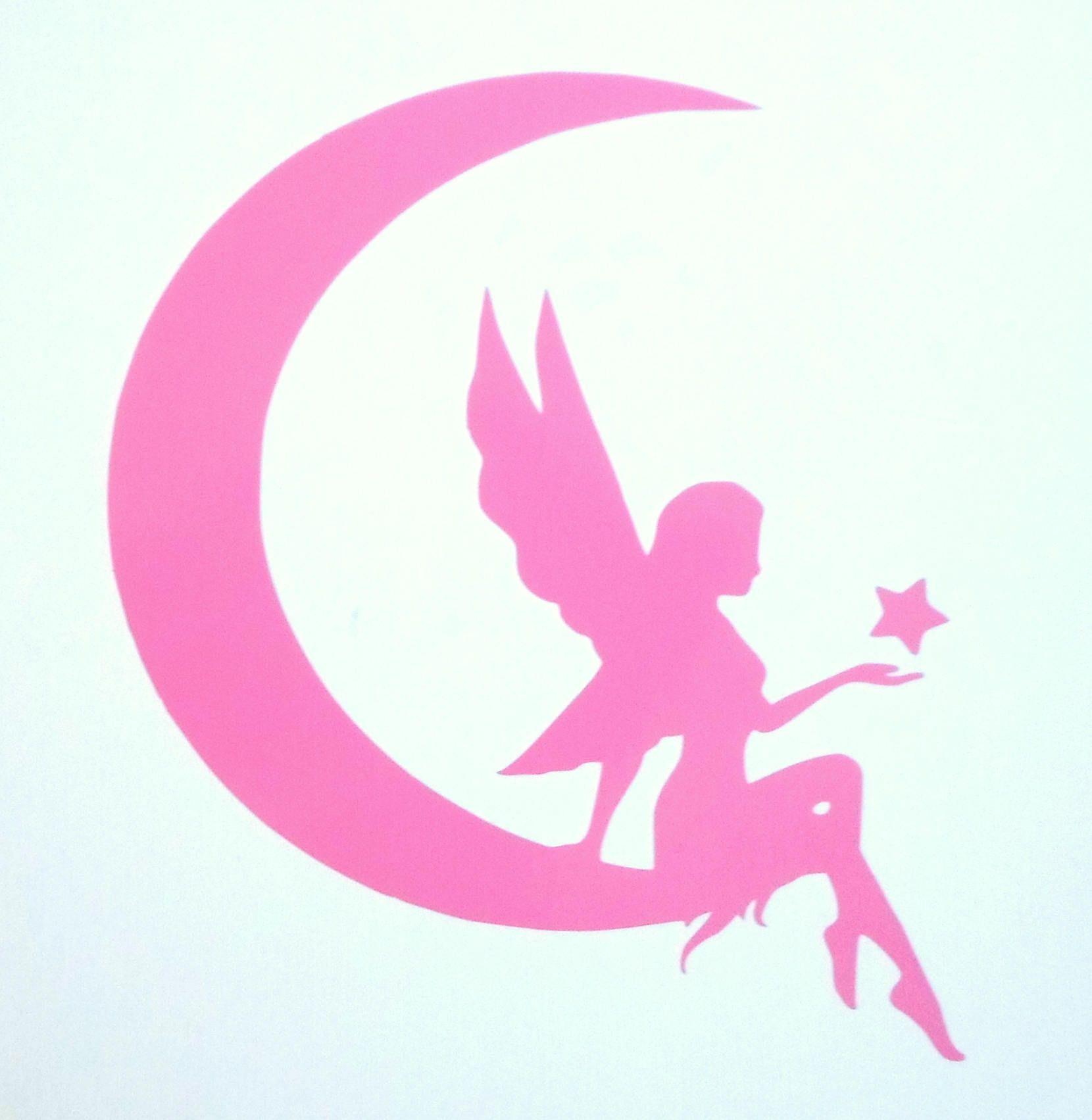 Fairy Moon Star Car Window Sticker Decal Fairy Moon Star Etsy Car Window Stickers Wall Decal Fairy Fairy Gifts [ 1703 x 1660 Pixel ]