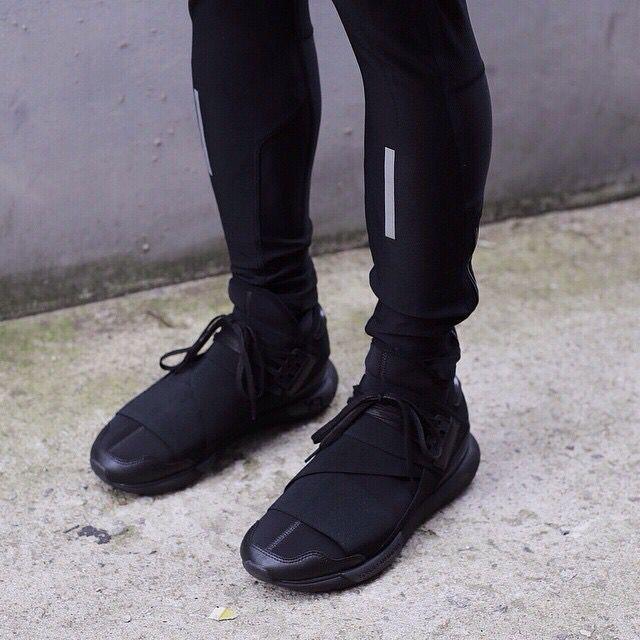 sports shoes bbf15 e643e ADIDAS Y3 QASA HIGH ALL BLACK