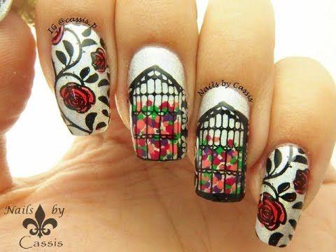 Rose Garden Mani Using MoYou London U0026 Sugar Bubbles Plates #nails #nailart  #nailstamping
