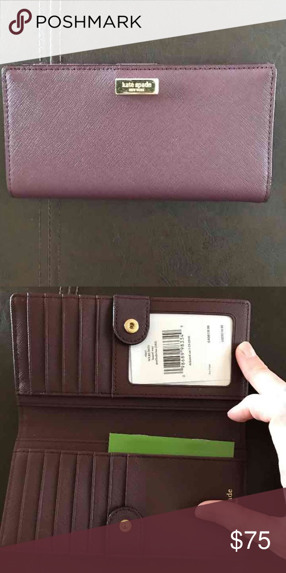 NWT Kate Spade Wallet Mulled wine Stacy wallet kate spade Bags Wallets