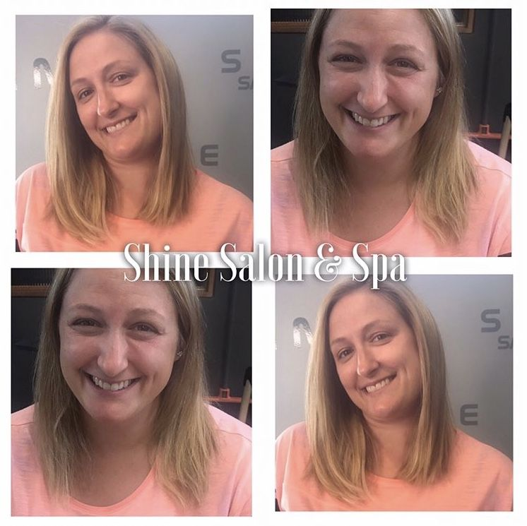 Hot Heads Tape In Damage Free Hair Extensions This Client