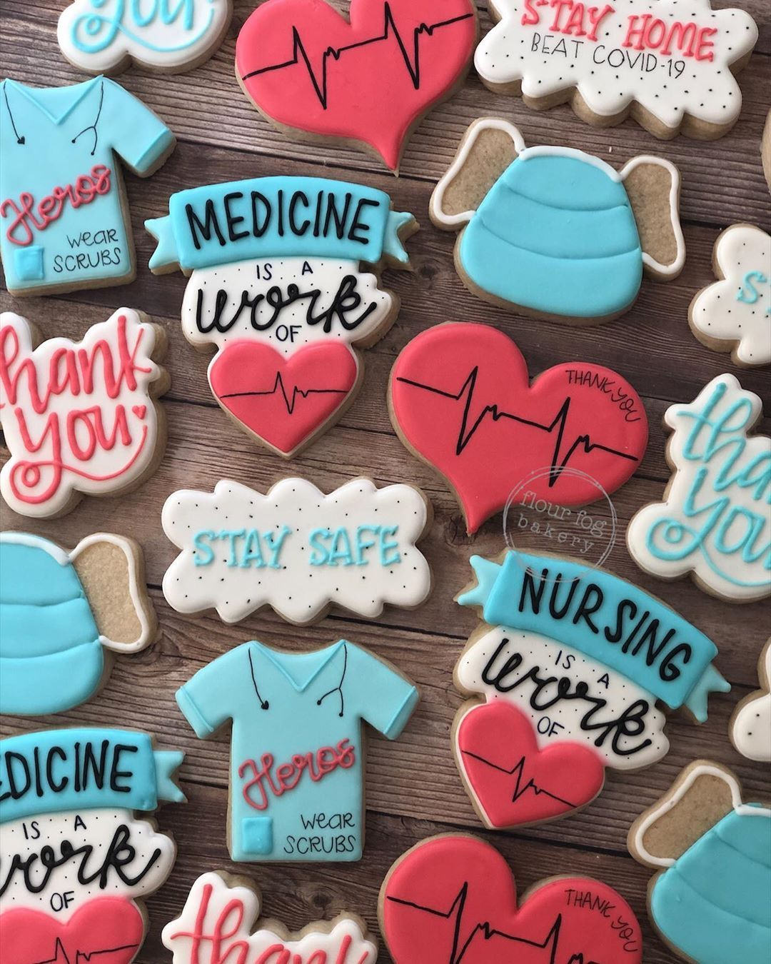 Pin By Meg Fink On Appreciation Cookies Nurse Office Teacher Nurse Cookies Sugar Cookies Decorated Cookie Decorating