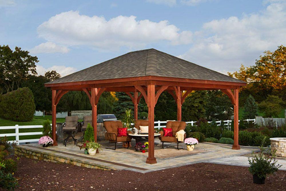 Back Yard Pavilion Plans 20 x 24 | 16x20 Wood Pavilion | porch ...