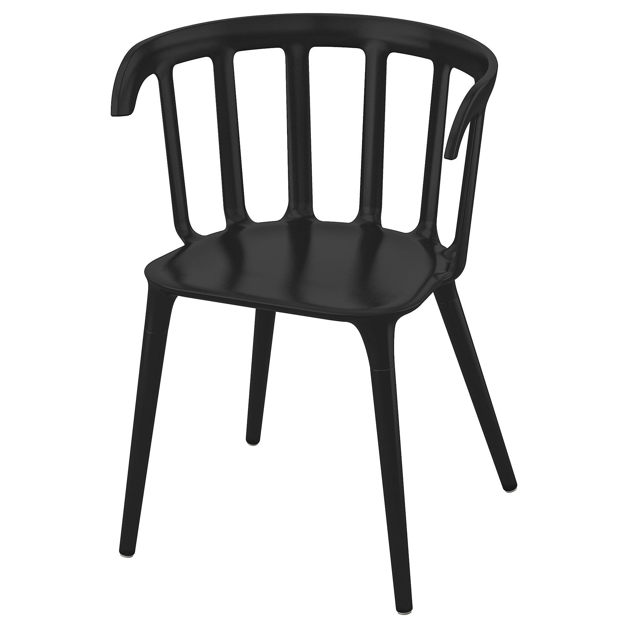 IKEA PS 2012 Armleunstoel, zwart IKEA i 2020 | Köksstolar