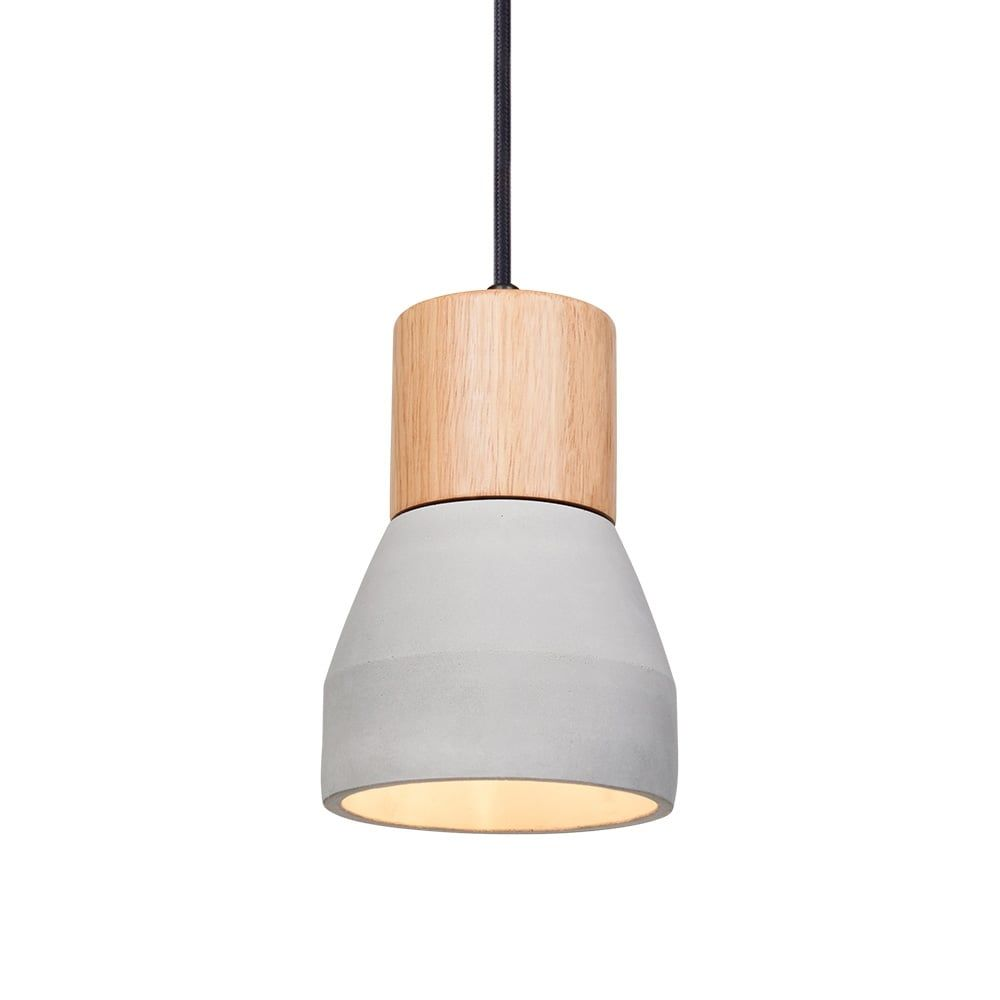 Cult Living Laval Concrete and Wood Pendant Light - Raw Concrete  sc 1 st  Pinterest & Cult Living Laval Concrete and Wood Pendant Light - Raw Concrete ...