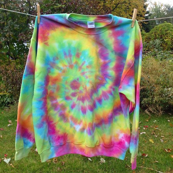 My personal favorite sweatshirt at the moment, I like to call this one the Neon Rainbow design!  Get your very own custom made on my Etsy shop, available in adult size SM-XL.   Use coupon code PIN10 for 10% off of your order!