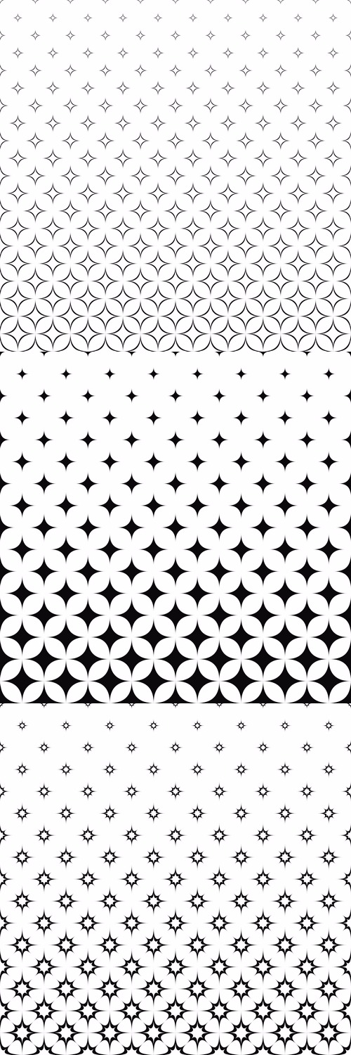 99 Monochrome Star Pattern Vector Backgrounds