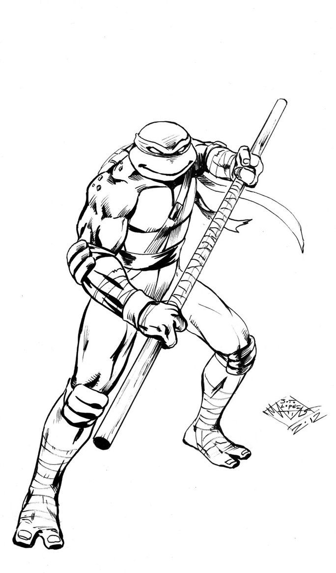 Donatello Teenage Mutant Ninja Turtles Coloring Pages For Kids