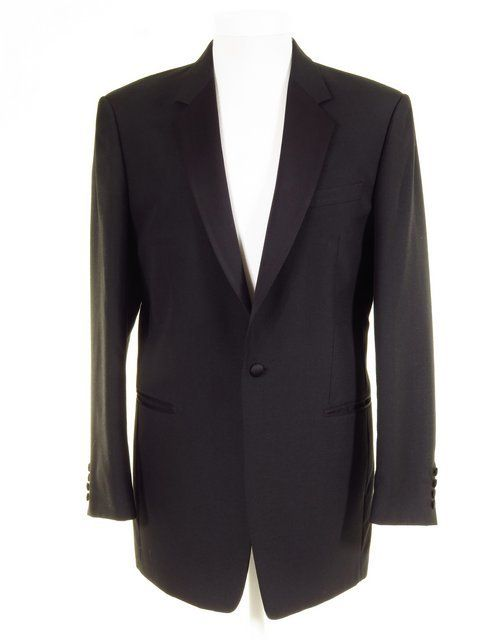 Black Oscar de la Renta Dimensions Single Breasted Tuxedo Jacket Halloween Coat