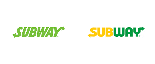 Brand New New Logo For Subway Subway Logo Logo Evolution Logo Redesign