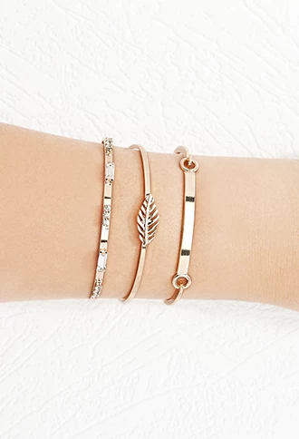 Feather Cuff And Bracelet Set Forever 21 F21accessorize Goldbracelets