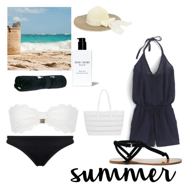 """""""Untitled #89"""" by maidasabic12 ❤ liked on Polyvore featuring J.Crew, Sole Society, Seafolly, Marysia Swim, BUCO, The Upside and Bobbi Brown Cosmetics"""