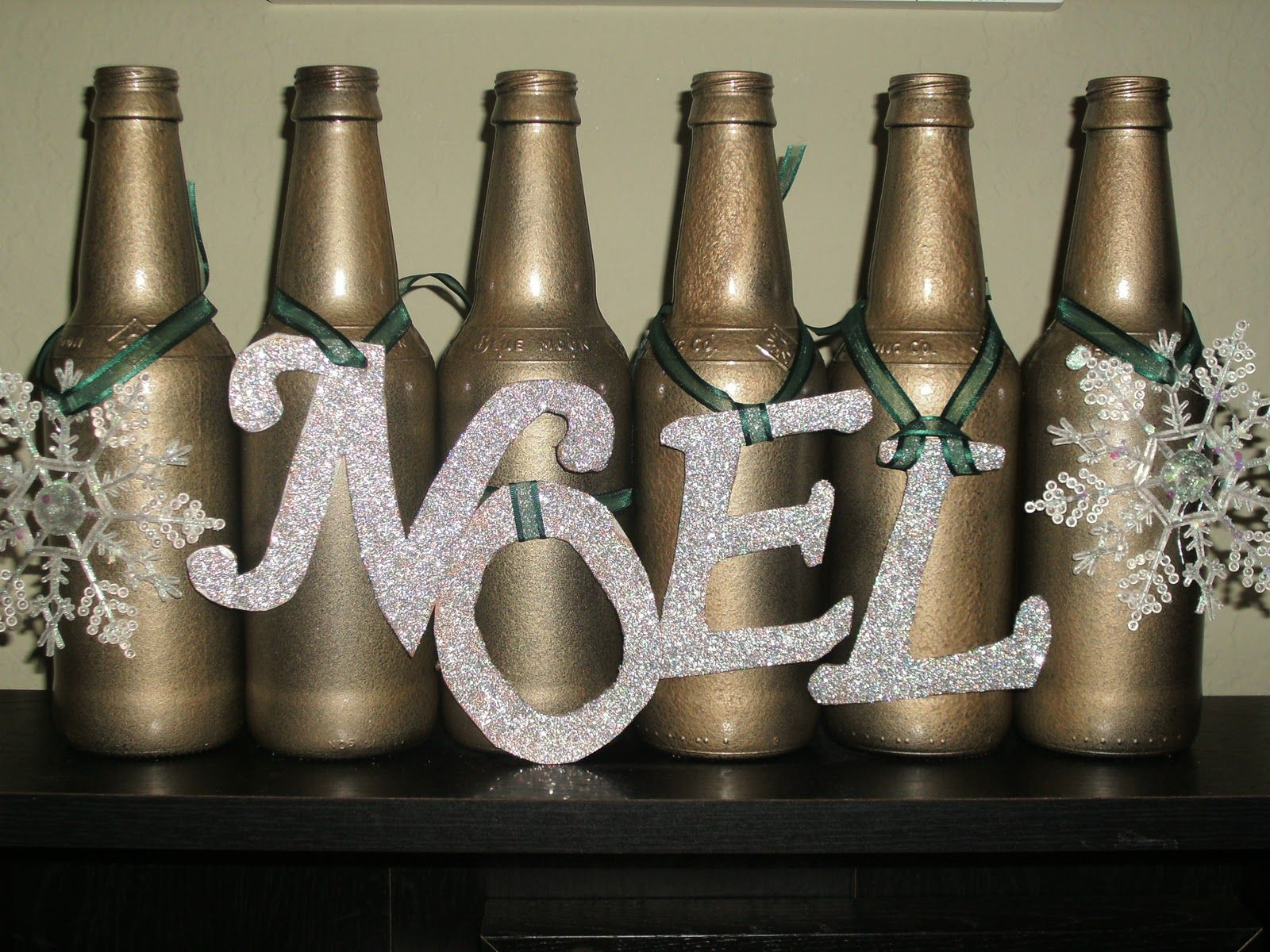 Decorate Beer Bottles For Christmas Where's My Dream Life Upcycled Beer Bottle Christmas Decor