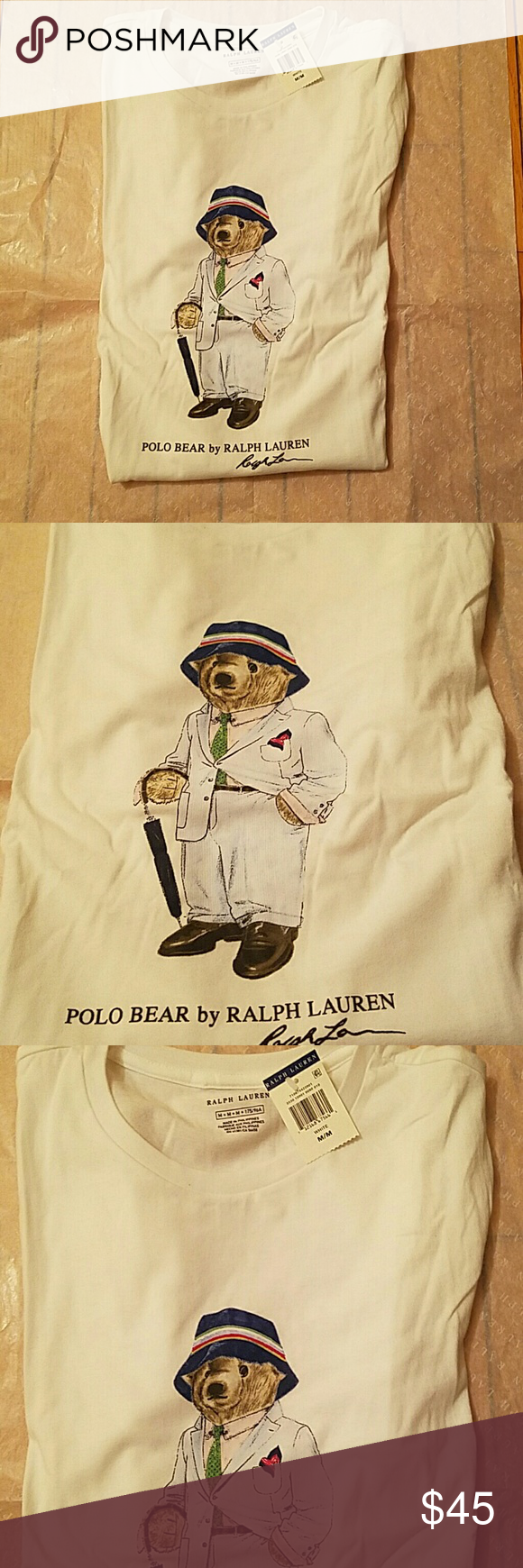 ad59e4cf Ralph Lauren limited edition Polo Bear t-shirt 2017 limited edition Polo  Bear t-shirt sporting a seersucker suit and bucket hat.. this item is sold  out from ...