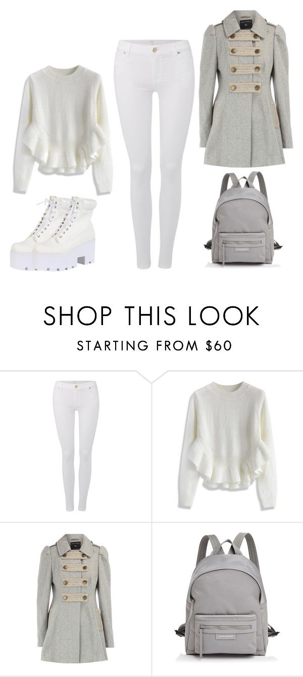 """""""College life"""" by adancetovic ❤ liked on Polyvore featuring 7 For All Mankind, Chicwish, Dorothy Perkins, Longchamp, women's clothing, women's fashion, women, female, woman and misses"""