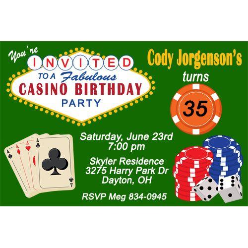 Get Casino Birthday Party Invitations Ideas FREE Printable - Casino birthday invitation templates