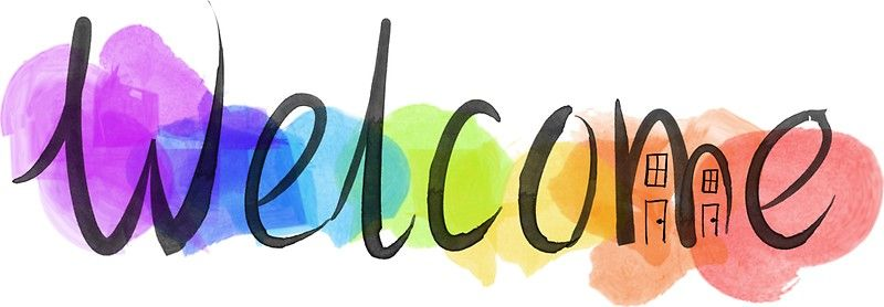 Image result for welcome with rainbow