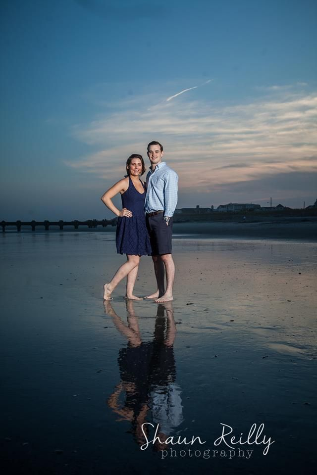 Courtney and Alex were hanging out in their favorite beach town, Avalon, NJ when we got together to photograph their awesome engagement portraits. They even brought their puppy down to play with us for a little while.    www.shaunreillyphotography.com