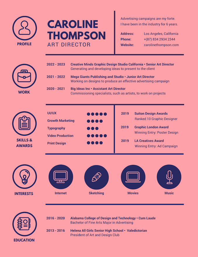 Canva Resume Free Template