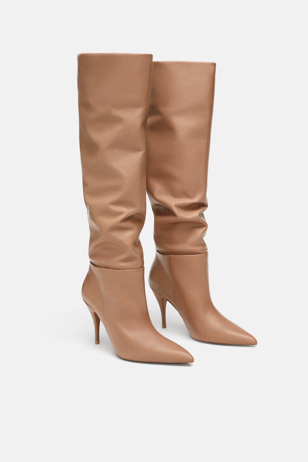 e6b69b76014 Soft leather high-heel boots in 2019 | Wish list | Leather high heel ...