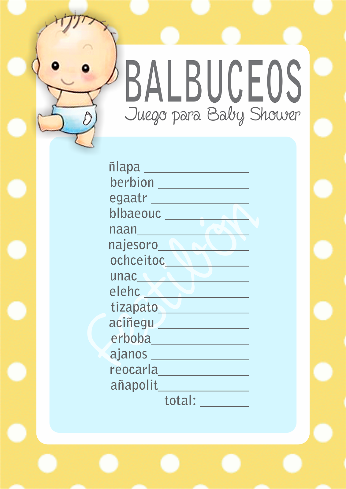Descarga 16 Juegos Para Baby Shower Para Imprimir Gratis En