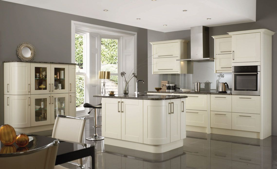 Image Result For Grey Kitchen Walls With Cream Cabinets Grey