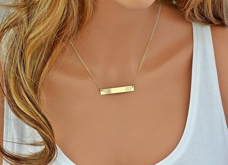Gold Bar Necklace 14k Gold Bar Necklace Bar Necklace Etsy In 2020 14k Gold Bar Necklace Bar Necklace Bar Necklace Rose Gold