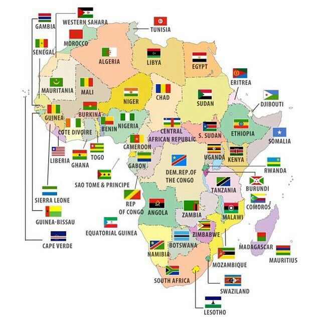 Map Of Africa With Flags.Map Of Africa Their Flags I Heart Africa Pinterest Africa