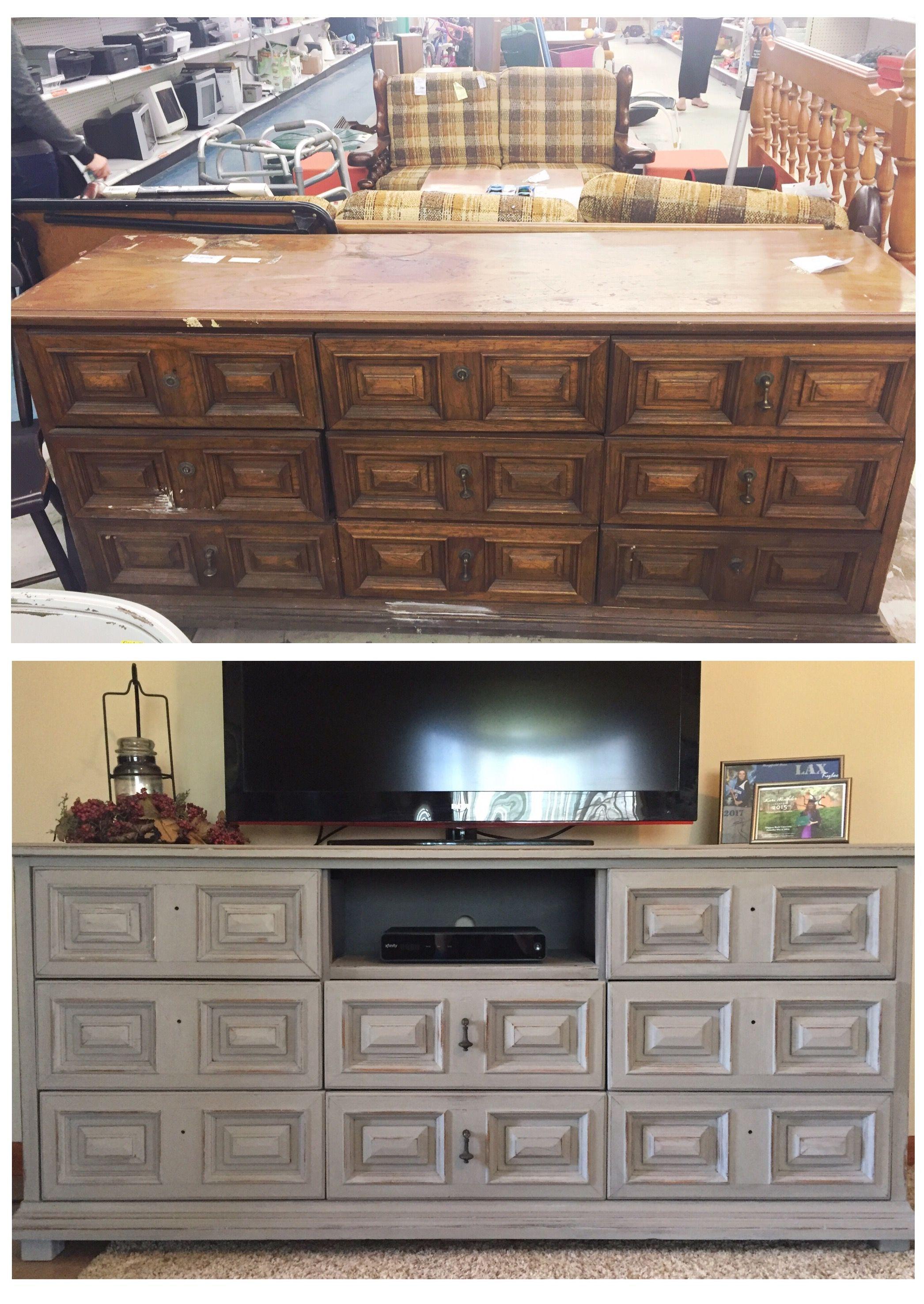 Refinished Dresser Tv Stand Dresser Tv Stand Interior Design Living Room Small Room Bedroom