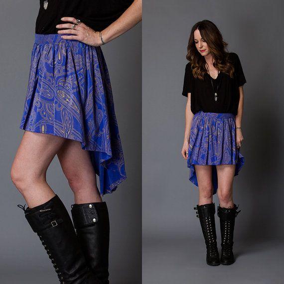 Mixed Emotions Reworked Vintage Mullet Skirt by AllynRoseVintage, $30.00