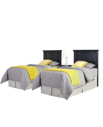 Best Home Styles Bedford Two Twin Headboards And Night Stand 400 x 300