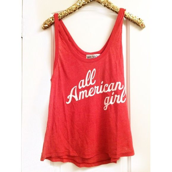 •WILDFOX• All American Tank New with tags, perfect for summer Wildfox Tops Tank Tops