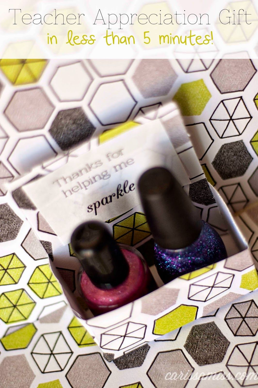 Teacher Appreciation Gift: Make your own nail polish gift box ...