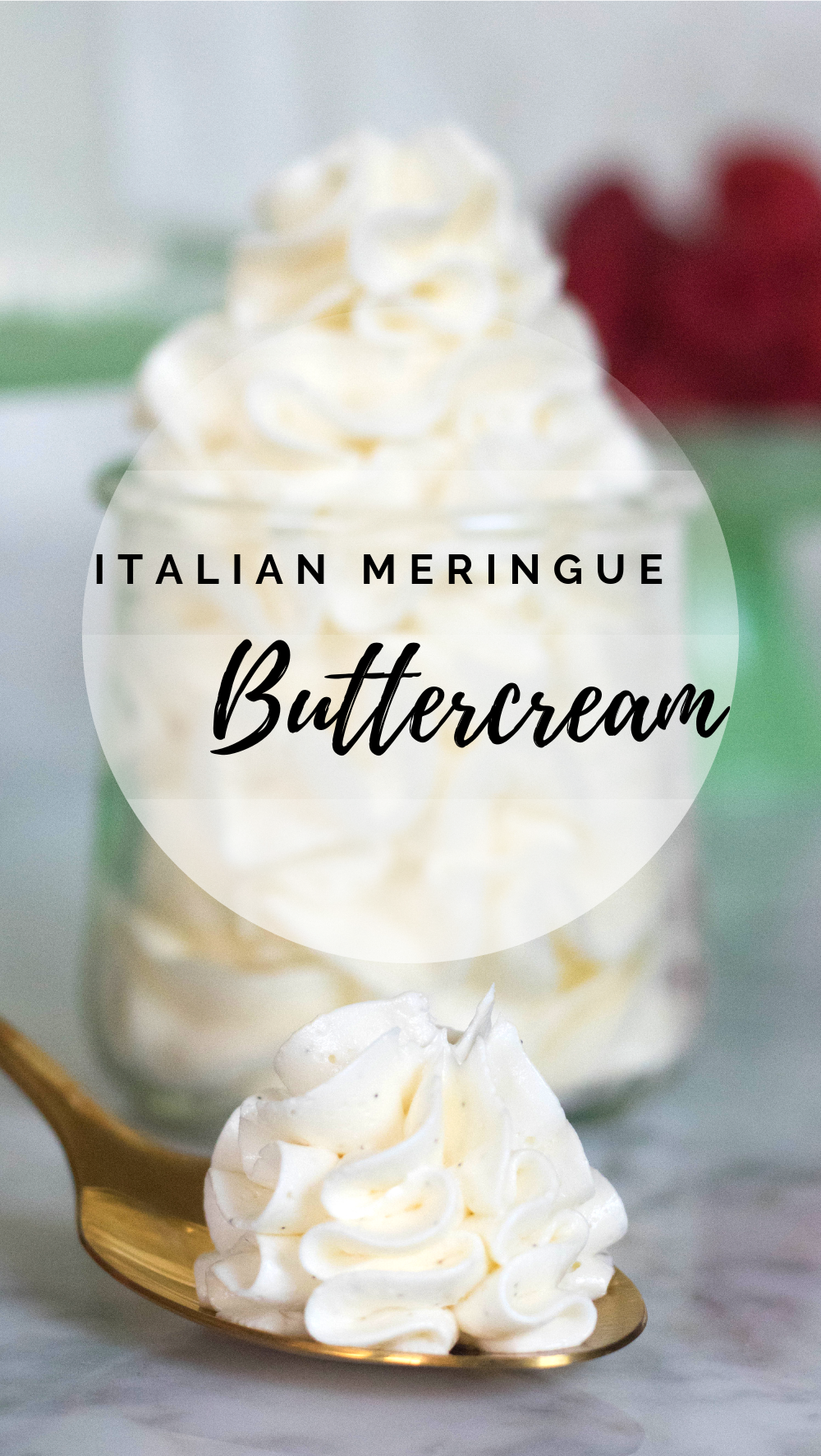 Light, silky, and vanilla-y Italian buttercream frosting, this recipe is a staple for any avid baker because of its amazing flavor, versatility and how well it tends to hold.