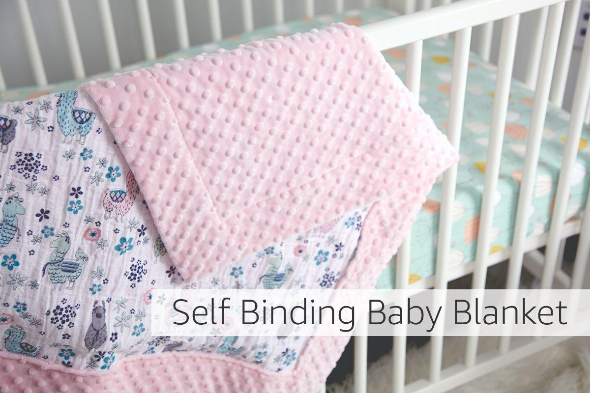 Self binding baby blanket tutorial baby blankets pinterest