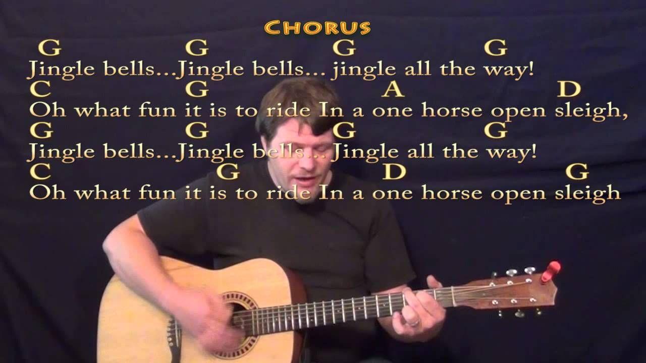 Jingle Bells Christmas Strum Guitar Cover Lesson W Lyrics Chords Guitar Strumming Guitar Lessons Songs Guitar Lessons