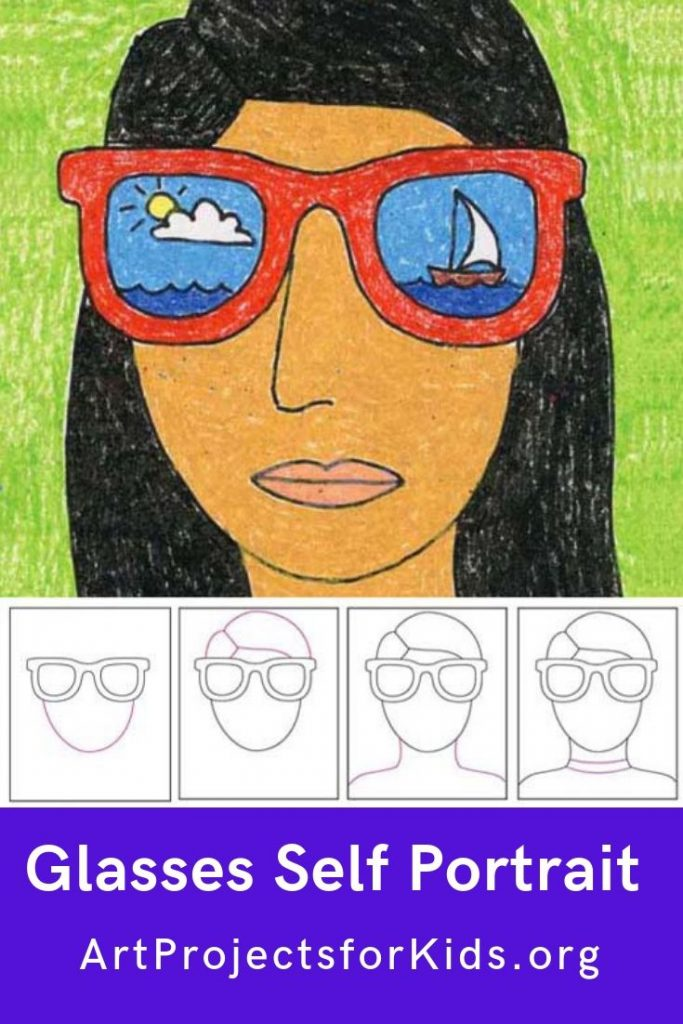 Sunglasses Drawing Easy : sunglasses, drawing, Portrait, Sunglasses, Projects, Kids,, Portraits