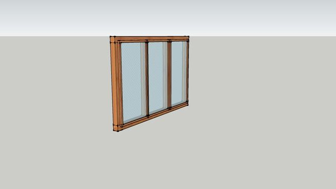 Large Preview Of 3d Model Of Wooden Window Cs 188 Assets