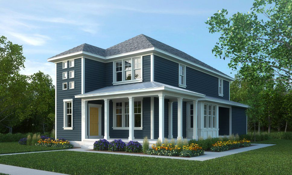 Best Blue Exterior Grey Roof White Trim House Exterior 400 x 300