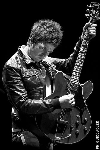 Love this Noel Gallagher image - Noel without a guitar in his hands just looks wrong.