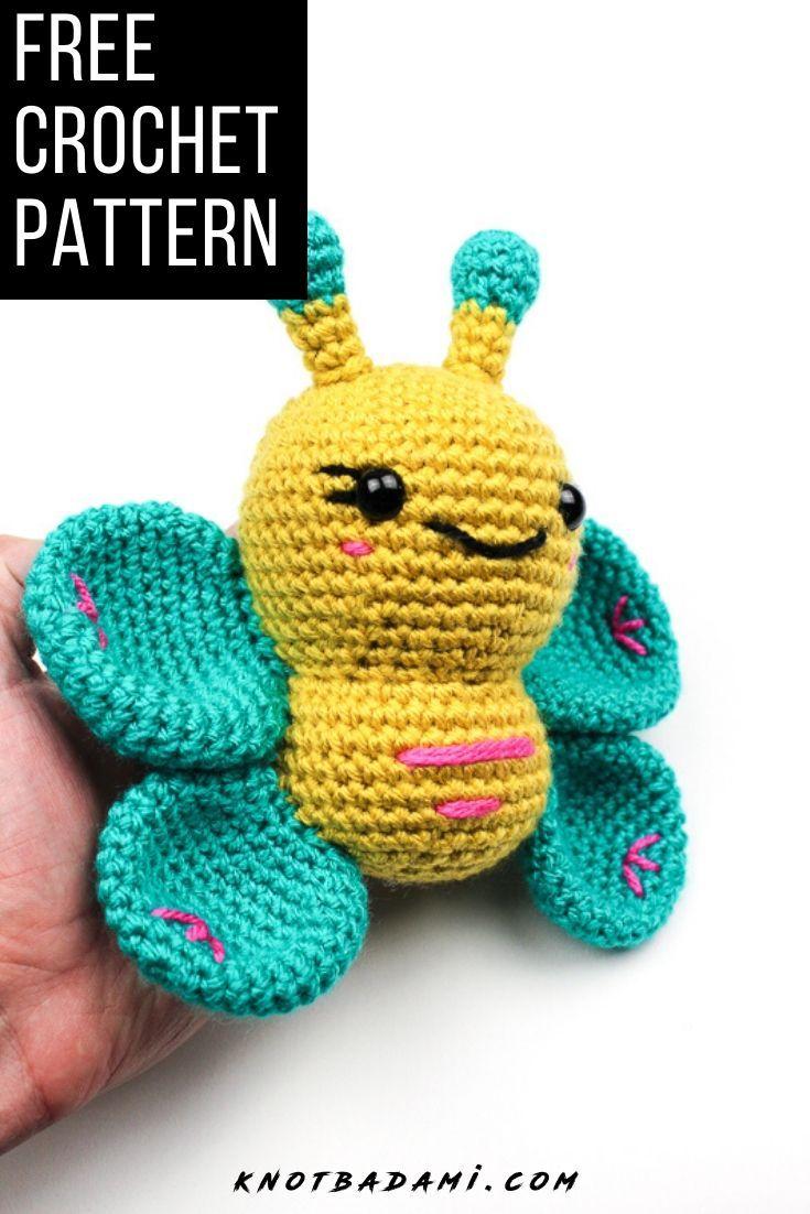 Crochet bubbly butterfly amigurumi in 2020 crochet