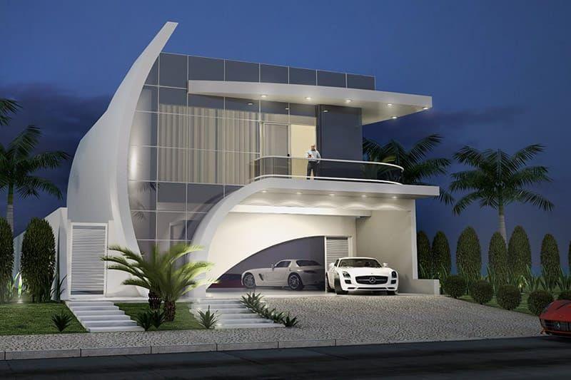 Projeto de casa de praia arquitet s fachadas de casas for Casa moderna tunisie