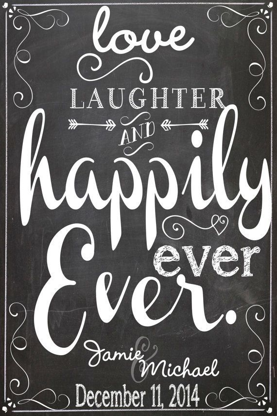 Download Love laughter & happily ever after sign by ...