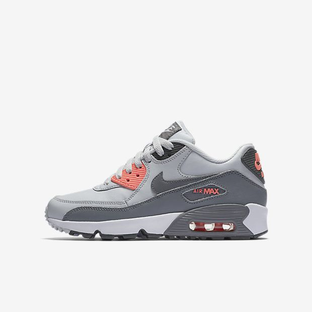 Nike Air Max 90 Leather (3.5y-7y) Big Kids' Shoe