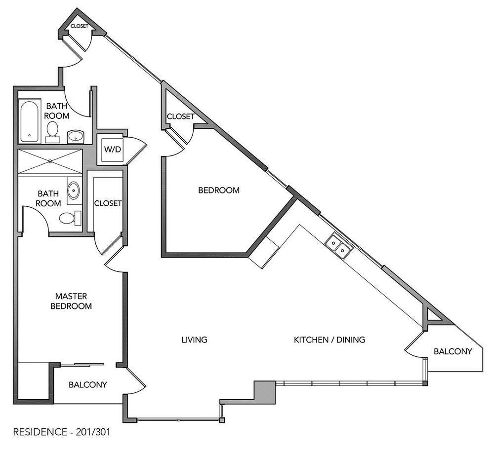 The Century on Market Street Releases Triangular Floor Plans ...
