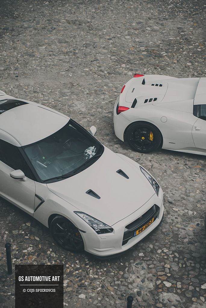 Follow for more awesomeness! Nissan GT-R & Ferrari 458 Spider #r35 #petrolified